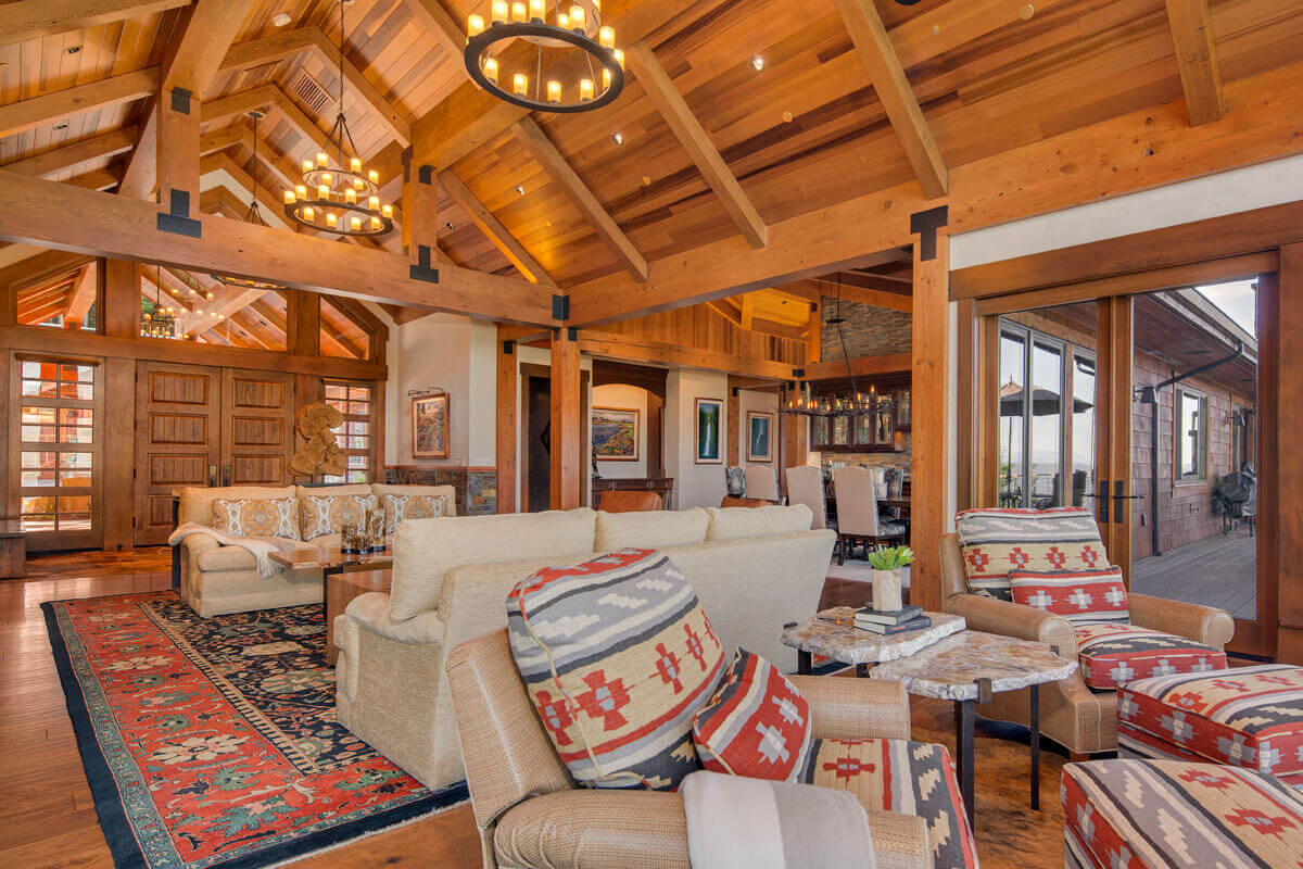 Rustically Refined Living Room – <em>Dream Home high in the Issaquah Alps</em>