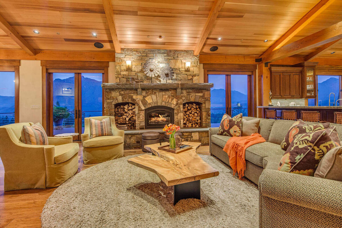 Rustically Refined Family Room – <em>Dream Home high in the Issaquah Alps</em>