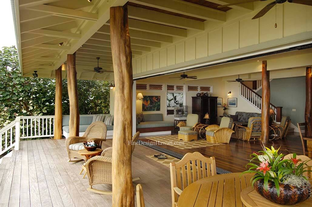 Hawaiian cottage style for Beach cabin designs
