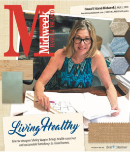 Shirley Wagner ASID-NCIDQ on the cover of Hawaii Island Midweek Maganize