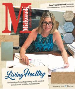 Shirley Wagner ASID-NCIDQ on the cover of Hawaii Island Midweek Maganize