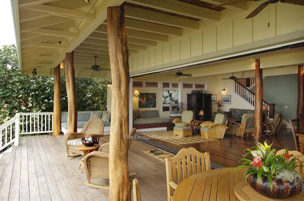 Retro hawaii beach cottage for 1950s beach house designs